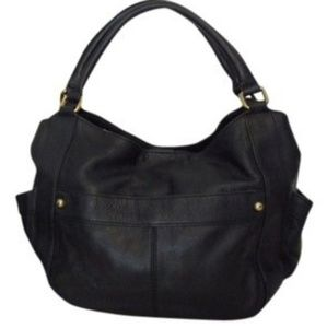 NWOT Black leather j crew factory purse